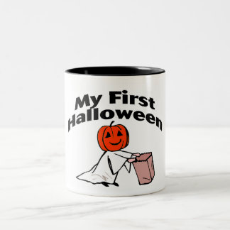 My First Halloween (Trick or Treat) Two-Tone Coffee Mug