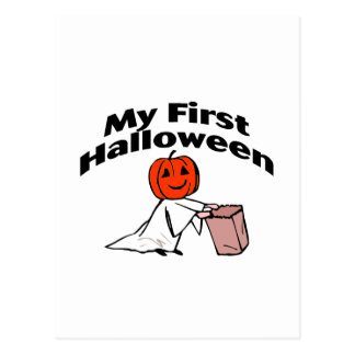 My First Halloween (Trick or Treat) Postcard