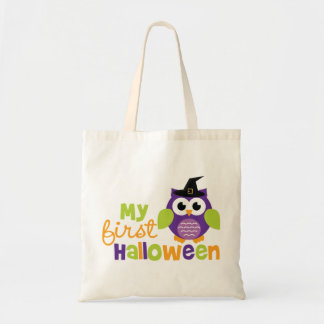 My First Halloween Witch Owl Budget Tote Bag