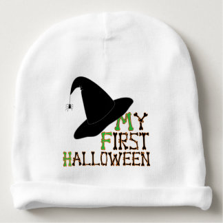 """My First Halloween"" Witch's Hat Baby Hat"