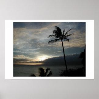 my first hawaiian sunset poster