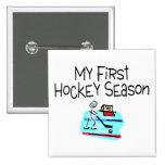 My First Hockey Season (Stick Figure) Button