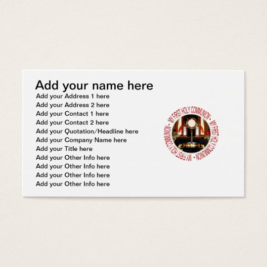 My First Holy Communion Business Card