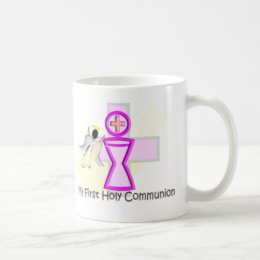 My First Holy Communion Chalice and Angel Classic White Coffee Mug