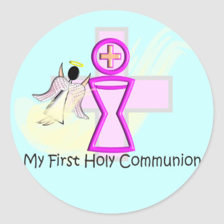 My First Holy Communion Chalice and Angel Sticker