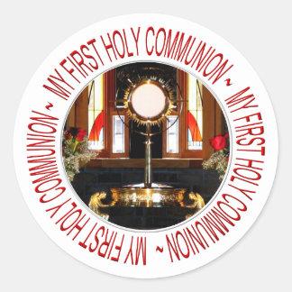 My First Holy Communion Classic Round Sticker