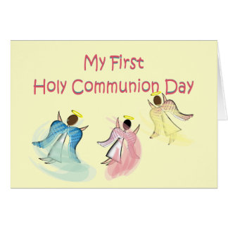 My First Holy Communion Day Card