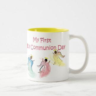 My First Holy Communion Day Two-Tone Coffee Mug