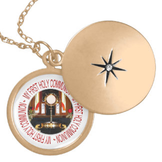 My First Holy Communion Locket Necklace