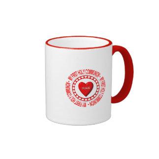 My First Holy Communion Ringer Coffee Mug