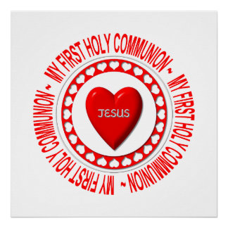 My First Holy Communion Poster