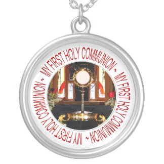My First Holy Communion Silver Plated Necklace
