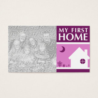 my first home (mod mauve) business card