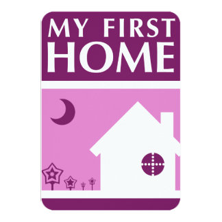 my first home (mod mauve) card