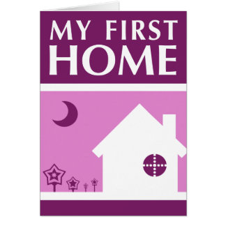 my first home (mod mauve) stationery note card