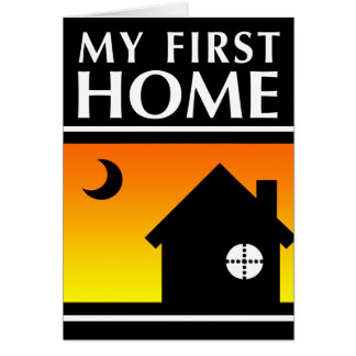 my first home (mod sunrise) stationery note card