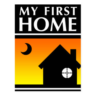 my first home (mod sunrise) postcard