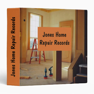 My First Home Repair Record Keeper 3 Ring Binder