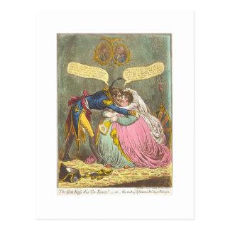 my first kiss postcard