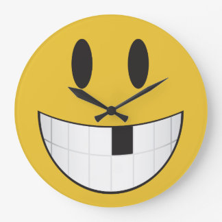 my first loose tooth emoji large clock