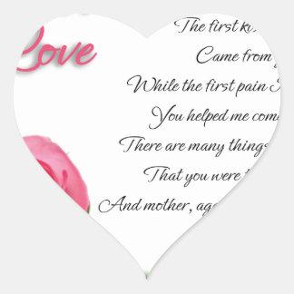 My First Love Poem Heart Sticker