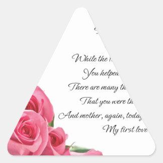 My First Love Poem Triangle Sticker