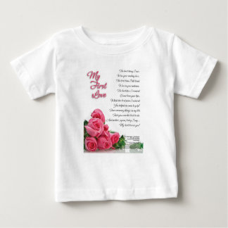 My First Love Poetry Art By Stanley Mathis Baby T-Shirt