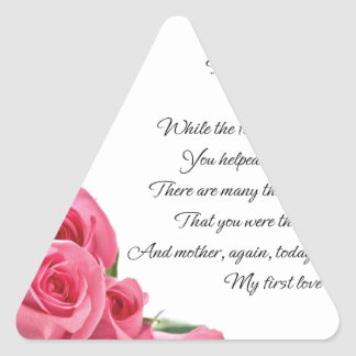 My First Love Poetry Art By Stanley Mathis Triangle Sticker