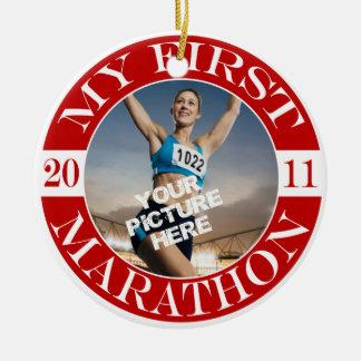 My First Marathon - 2011 Ceramic Ornament