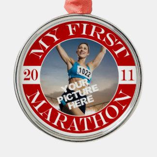 My First Marathon - 2011 Metal Ornament