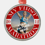 My First Marathon - 2012 Christmas Ornament