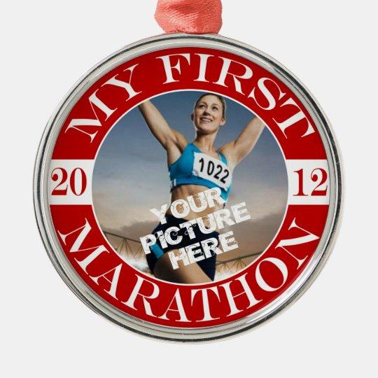 My First Marathon - 2012 Metal Ornament
