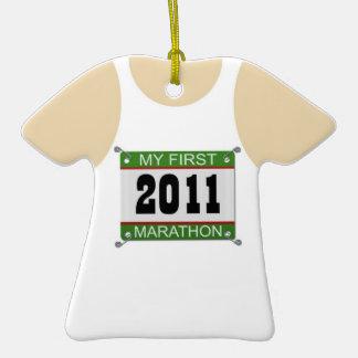 My First Marathon Singlet - 2011 Ornaments