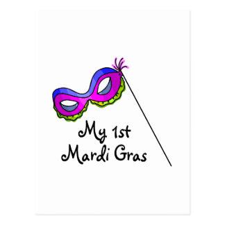 My First Mardi Gras Postcard