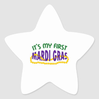 MY FIRST MARDI GRAS STAR STICKER
