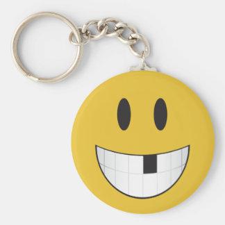 My first missing tooth emoji keychain