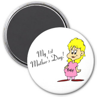 My First Mothers Day 3 Inch Round Magnet
