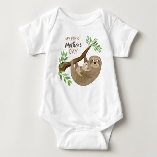 My First Mother's Day | Adorable Sloth Baby Bodysuit
