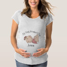 """""""My First Mother's Day"""" Baby Girl Maternity T-Shirt"""