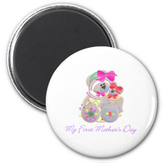 My First Mother's Day (bear) 2 Inch Round Magnet