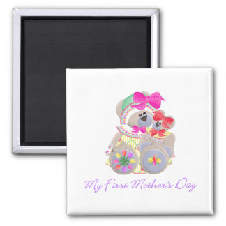 My First Mother's Day (bear) 2 Inch Square Magnet