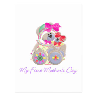 My First Mother's Day (bear) Postcard