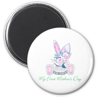 My First Mother's Day (bunny) 2 Inch Round Magnet