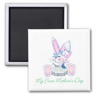 My First Mother's Day (bunny) 2 Inch Square Magnet