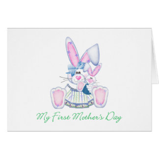 My First Mother's Day (bunny) Card