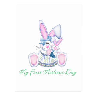 My First Mother's Day (bunny) Postcard