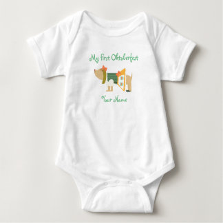 """My First Oktoberfest"" Baby Bodysuit"