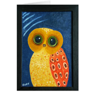 My First Owl Painting Card