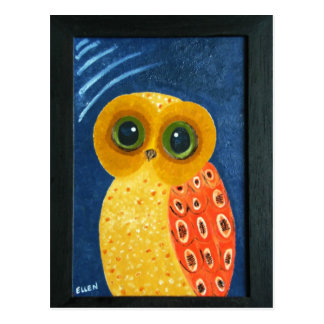 My First Owl Painting Postcard