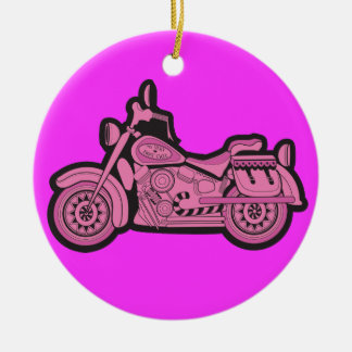 My First Pink Motorcycle Ceramic Ornament